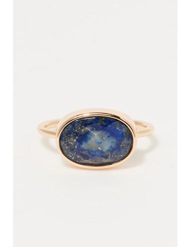 Bague Judith Moonstone ornée de Aqua Calci (Bleu)