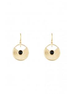 Boucles d'oreilles Priscilla Moonstone ornées de Jade Vert