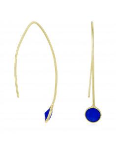 Bracelet Kenza Moonstone orné de Lapis (Bleue)