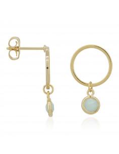 Bracelet Sybille Moonstone orné de Crystal Gris & Agathe (Gris) & Labradorite