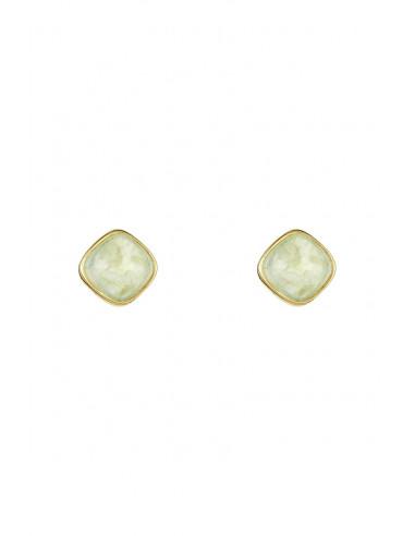 Boucles d'oreilles Suzanne Moonstone ornées de Préhnite