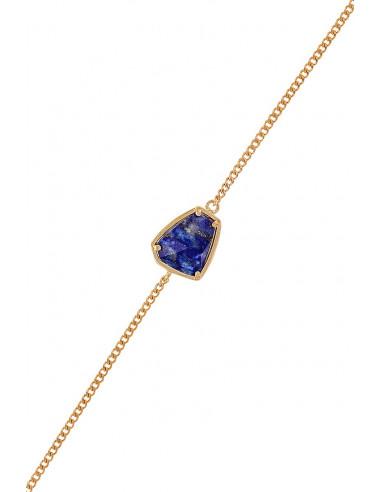 Bracelet Frida Moonstone orné de Lapis (Bleue)
