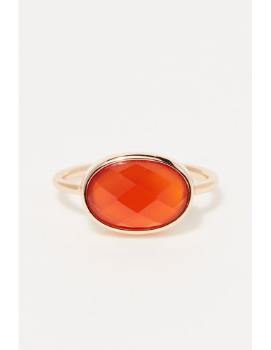 Bague 'Alessia' agate rouge