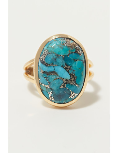 Bague 'Blanche' turquoise