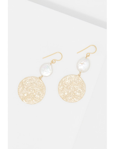 Boucles d'oreilles 'Joséphine' Perles