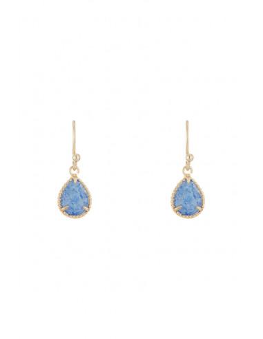 Boucles d'oreilles 'Rafaëli' Aventurine bleue