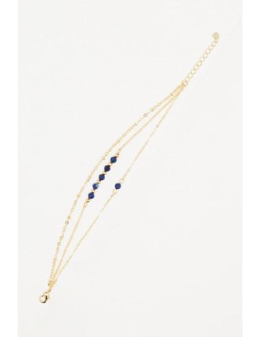 Bracelet 'Flore' lapis