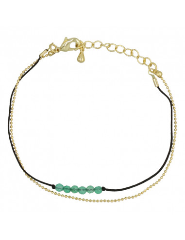 "Bracelet ""Ariane"" Jade vert"