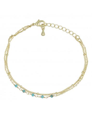 "Bracelet ""Clara""Turquoise verte"