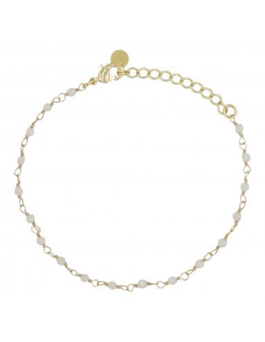 "Bracelet "" Elisa"" Jade blanc"
