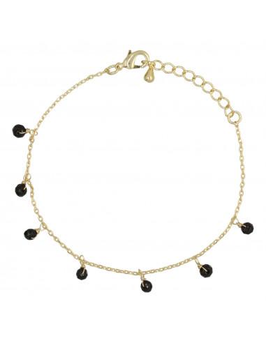"""Bracelet """"Léa"""" Agate noire"""