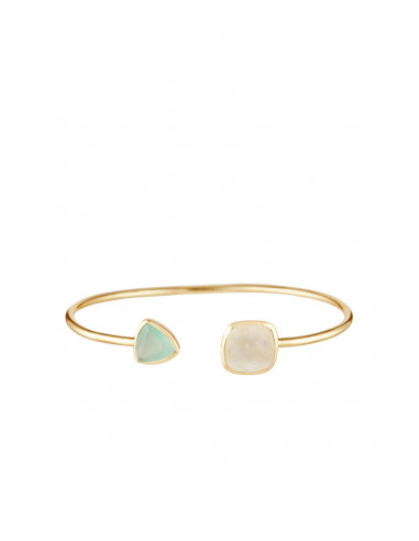 """Bracelet """"Talia"""" Pierre de lune et Aqua calci"""