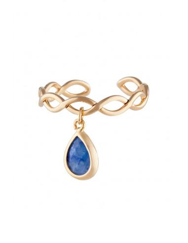 Bague Athéna Moonstone ornée de Aventurine Bleu